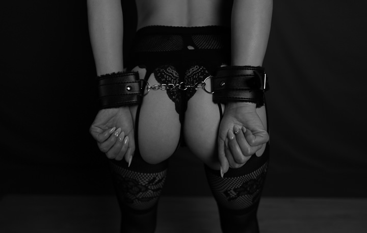 black and white. hand cuffs. Nude. Boudoir. Photography. Women. Empowerment