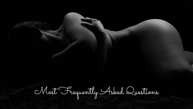 Black and white fine art nude
